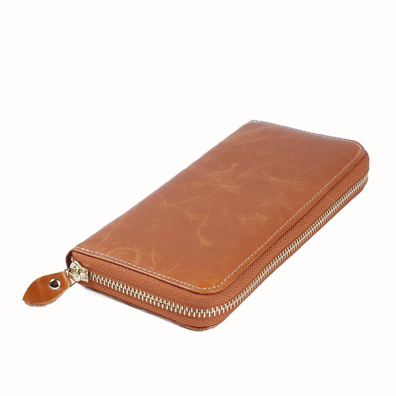 Unisex Long Women Wallet with Interior Moblie Phone Large Purse Men Real Cow Genuine Leather Card Holder Money Bag Ladies Coin