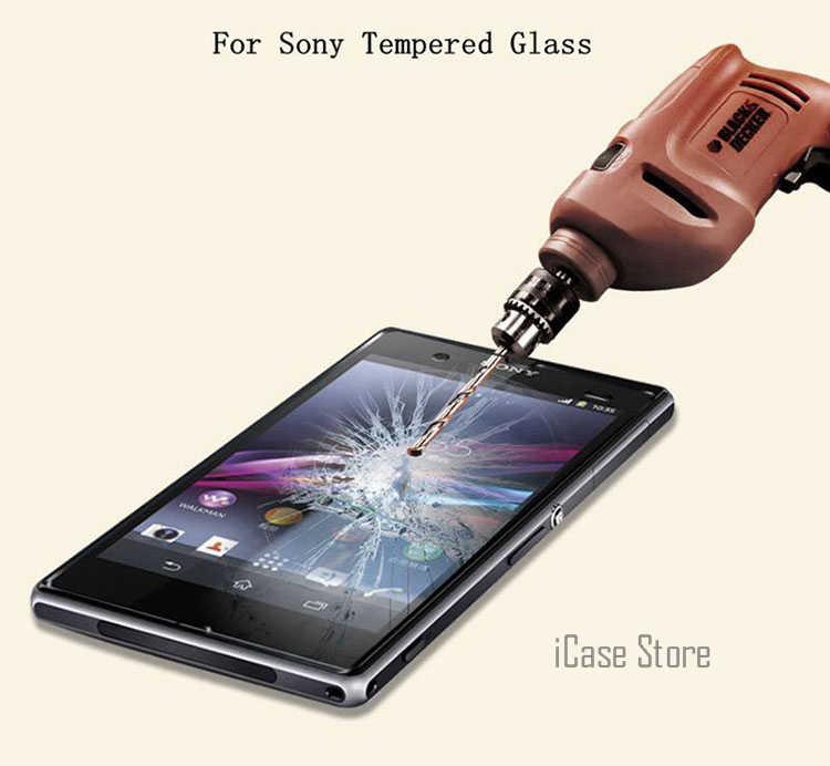 2 uds. (frontal y trasero) vidrio templado 9H para Sony Z1 Z4 Z5 Compact Z5 Premium Dual Z Z2 Z3 M4 M5 funda protectora de pantalla