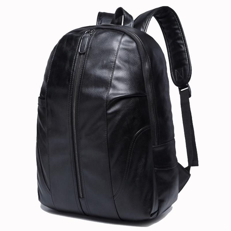 Fashion Leather Backpack Men Travel Bag Mochilas Hombres 2017 Western College Style Shoulder School Backpacks Mens Plecaki Bolsa retro leather men s backpack male book bag black fashion designer knapsack travel mens backpacks mochilas para ipad case mochila