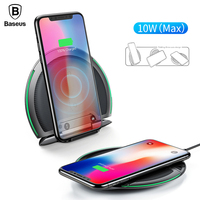 Baseus Collapsible Qi Wireless Charger 10W Fast Charging Cargador Inalambrico For IPhone X 8 Samsung S9
