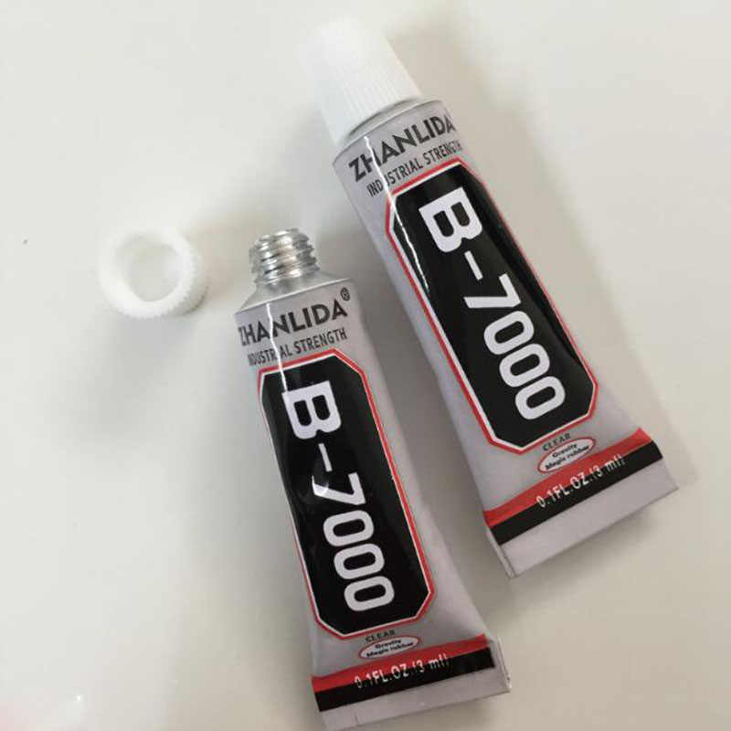 6pc 3ml B7000 Super Liquid Glue Multipurpose Glue Adhesive Jewelry Class Crystal Diamond Phone Screen House Office Repair Glue