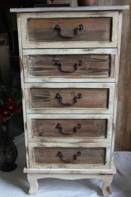 Elegant American Antique Furniture Made Of Old Colored Wood Craft Design Retro  Rustic Style Wood Cabinets 5