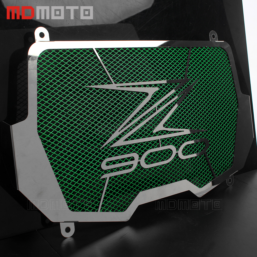 MDMOTO motorcycle cover radiator grille Guard Cove for kawasaki z900 2017 Stainless steel Radiator Grill side cover with logo arashi motorcycle radiator grille protective cover grill guard protector for 2008 2009 2010 2011 honda cbr1000rr cbr 1000 rr