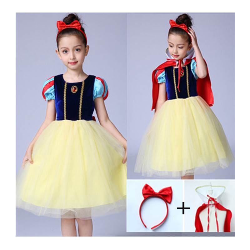 Children Girl Snow White Cosplay Costume Dress for Girls Prom Princess Dress Kids Baby Gifts Intant Party Clothes Fancy Teenager