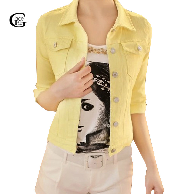 Popular Colored Jean Jackets for Women-Buy Cheap Colored Jean ...