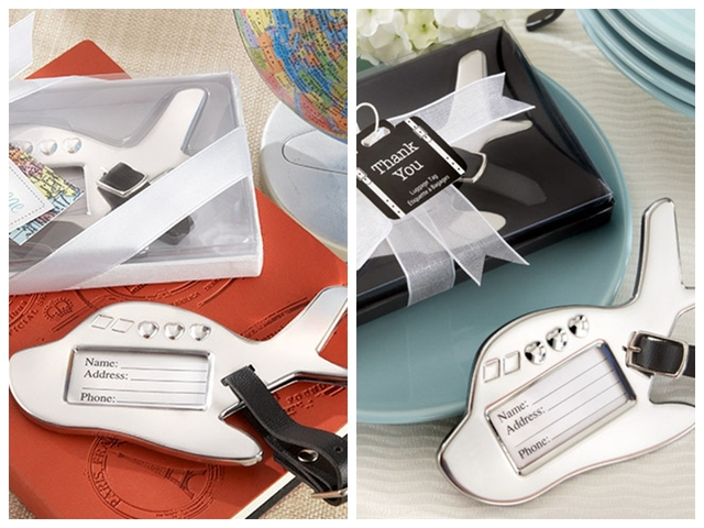 10 pieceslot travel themed airplane luggage tag wedding gifts and favors for