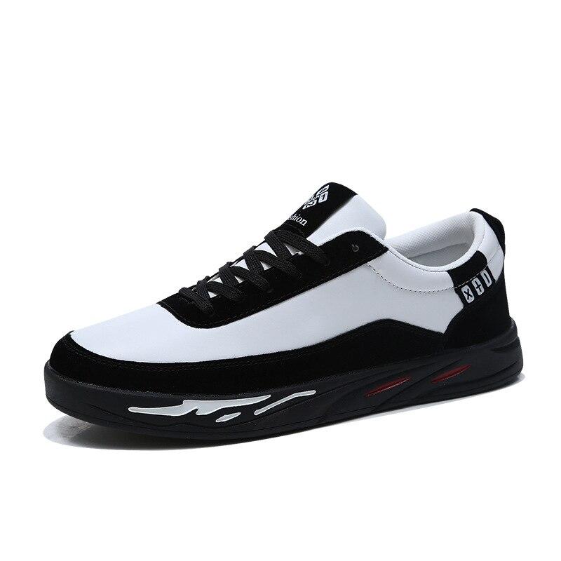 gris Zapatillas Calidad Alta marrón Negro De Hombres Moda Pisos Cuero 2019 Zapatos Transpirables Nueva Marca Negro Casuales Los Deporte HqUxfpO
