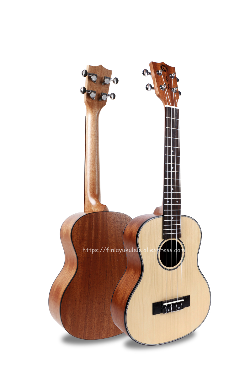 Finlay Ukulele 26 Tenor Ukelele Instrument With Spruce Top/Mahogany Body,Acoustic ukelele With nylon bag + strings hlby good deal 17 mini ukelele ukulele spruce sapele top rosewood fretboard stringed instrument 4 strings with gig bag 2