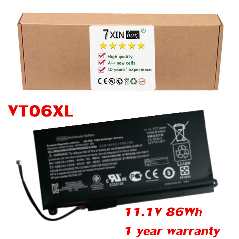 11 1V 86Wh Battery VT06XL for HP Envy 17 3000 17T 3000 TPN I103 HSTNN IB3F