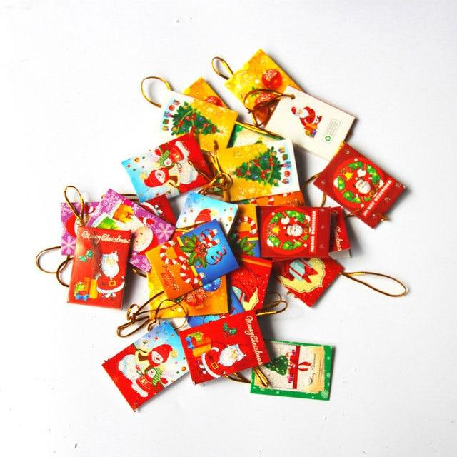 10 шт./лот Санта Клаус новый год поздравительная открытка рождественские товары украшения продукты вечерние Праздничная Вечеринка Елочная игрушка в виде елочки