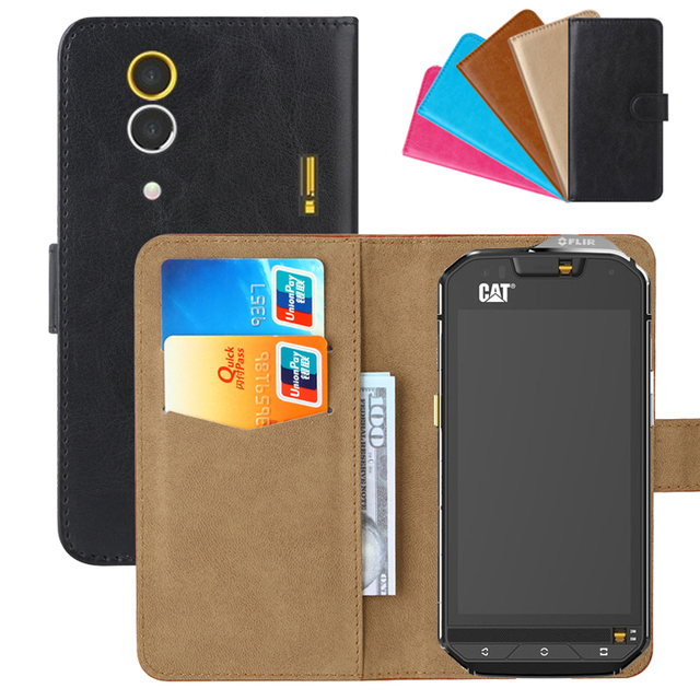 new products 66d07 41a32 US $3.91 10% OFF|Luxury Wallet Case For Caterpillar Cat S60 PU Leather  Retro Flip Cover Magnetic Fashion Cases Strap-in Flip Cases from Cellphones  & ...