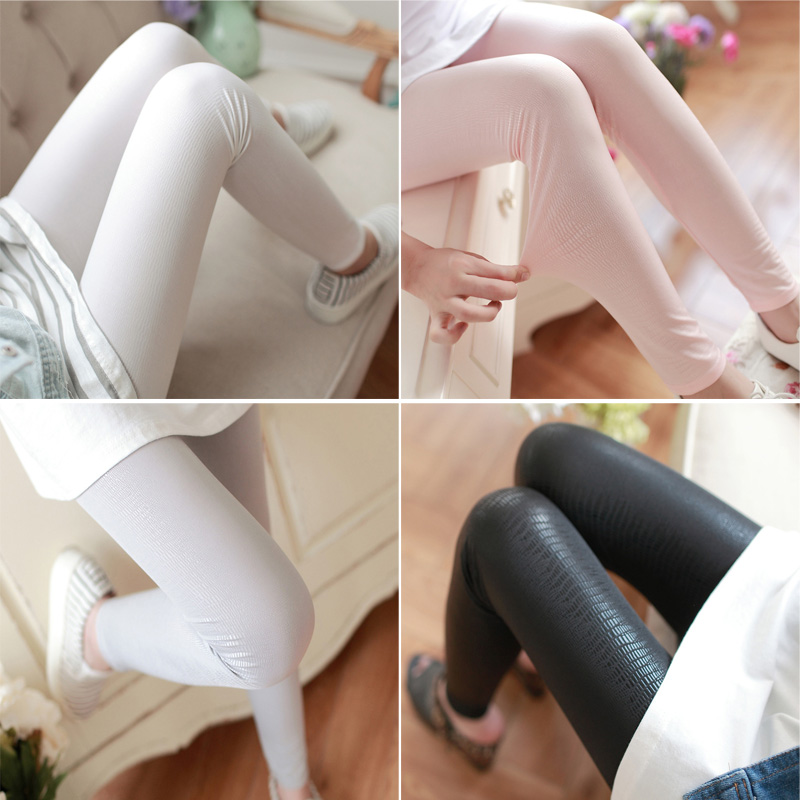 New Style Stretch High Elasticity Snake Patterns Girls Faux Leather Ninth Skinny Pants Fitness Women Leggings