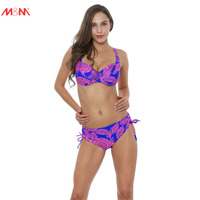 M M Women Bathing Suits Large Size Swimsuits Low Waist Push Up Print Bikini Plus Size