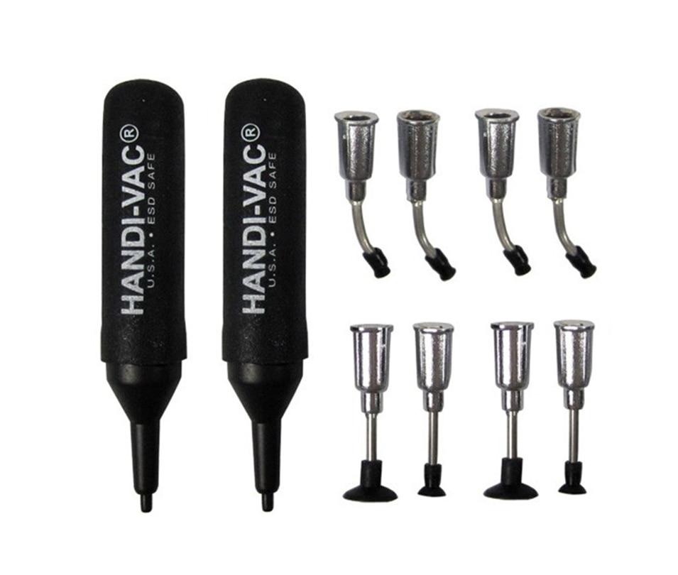 цена на 2017 New Lens Screen Holder IC IC Bag ESD Anti-static Vacuum Pen 2pcs HANDI-VAC Air Bag Suction Pen + 8  nozzles, Vacuum picker