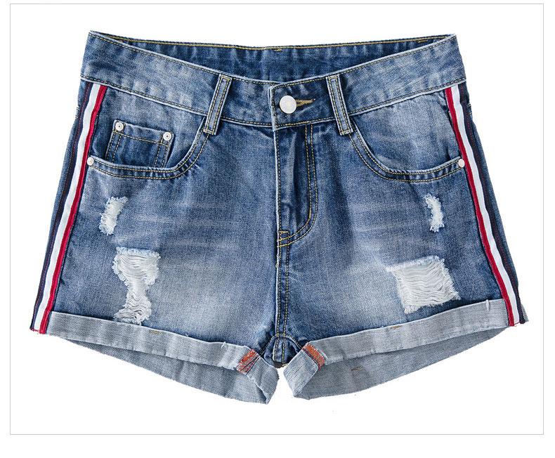 HTB1IztBRXXXXXc6XVXXq6xXFXXXJ - Short Women Side Striped Shorts Denim Pants JKP138
