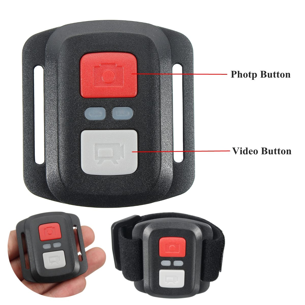 Waterproof Sports Camera Action Camera Accessories 2.4G Remote Control Plastic Black Support for EKEN H9R/H9R plus/H6S/H8RPlus-2