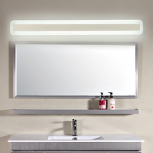 led Mirror front light bathroom simple and modern led toiletry makeup light waterproof fog bathroom toilet bathroom mirror lamp все цены