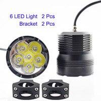 אופנועים פנס 60 W 12 V שבב LED U3 Moto הנהיגה ערפל ראש אור פנס מנורת ספוט Offroad רכב עזר תאורת זרקור