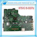 Para asus x75vc laptop motherboard com cpu 4 gb 60nb0240-mb8000 i5-3337 x75vb rev: 3.0 100% testado antes do envio