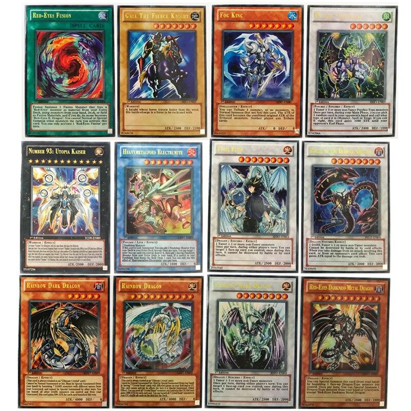 60 pièces/ensemble Yugioh cartes yu gi oh anime jeu cartes de Collection jouets pour garçons filles Brinquedo boîte en fer blanc emballage