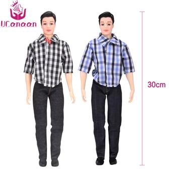 UCanaan/1 предмет, костюм Кен для мальчиков, кукла «сделай сам», игрушки для детей, повседневная одежда, клетчатая куртка, штаны, наряд для куклы ...