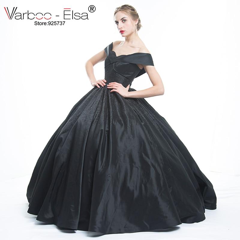 Elegant Black Ball Gown Sweetheart Neck off shoulder Beading Formal ...