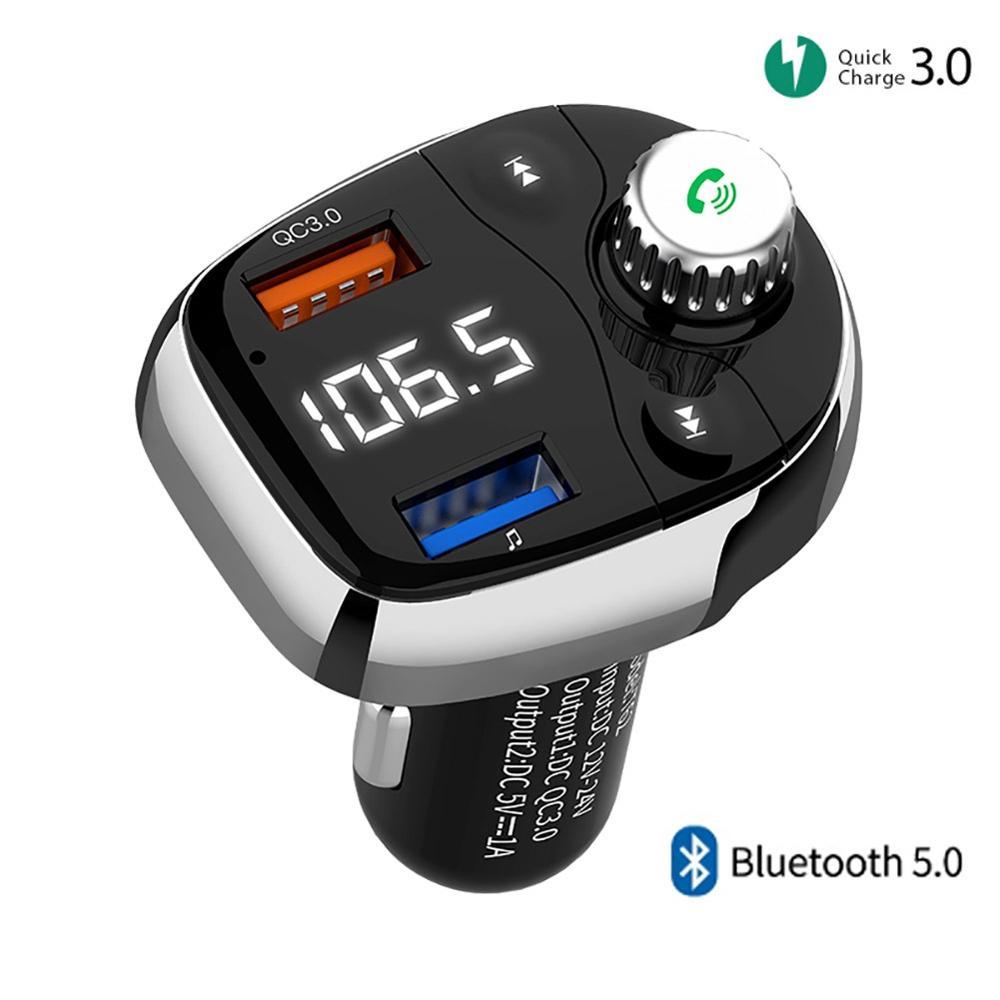 Outdoor Indoor Portable Charging  3.0 FM Transmitter Wireless Dual USB Modulator U Disk MP3 Player Handsfree Charging