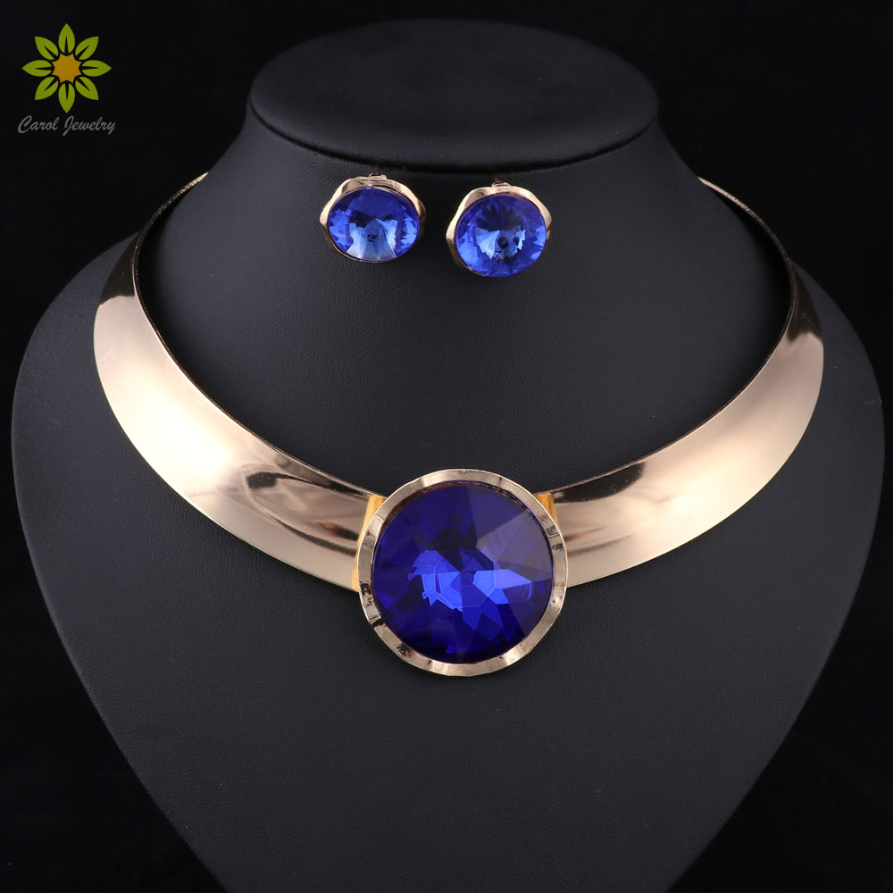 Women Jewelry Sets Trendy Necklace With Earrings Statement