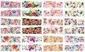 Na venda!! 1 Lote = 50 folhas 12 em uma folha Prego Novo Estilo Art Água Adesivos flores e plantas Coloridas em 2016 para BN097-108