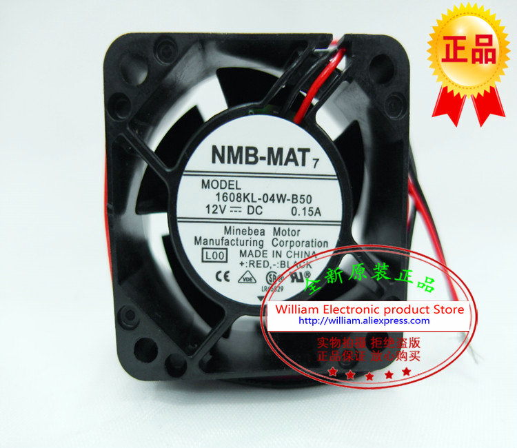 New Original NMB 1608KL 04W B50 DC12V 0 15A 40 40 20MM double ball font b