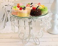 High quality Wedding party for decorate a cake tray glass mirror silver pendant dim summer afternoon tea tray cake stand