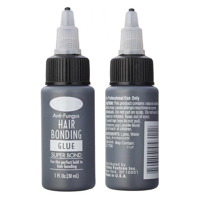 1 Bottle Anti Fungus Hair Bonding Glue Super Hairpiece Bond Weave Lace Wig Extension Liquid