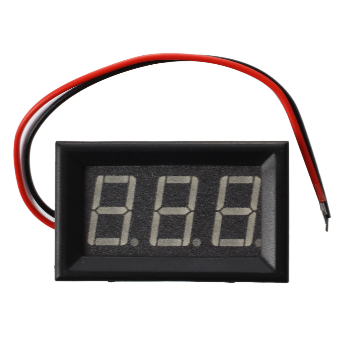 Mini Panelmeter Voltage Voltmeter <font><b>DC</b></font> <font><b>0</b></font> - <font><b>200</b></font> V 20 mA Yellow Three Cables image