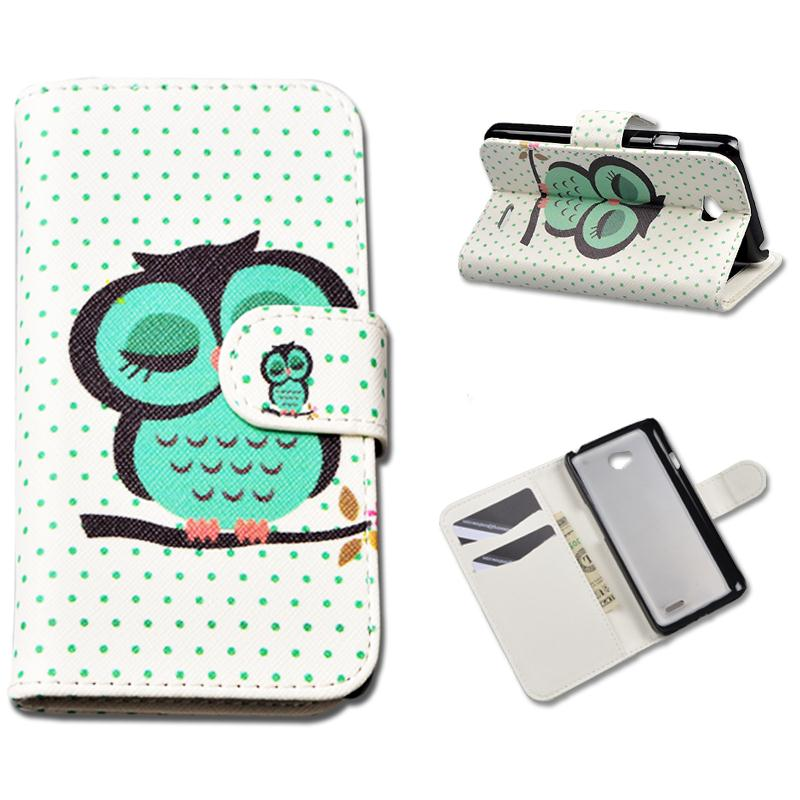 Printing Pattern Flip PU Leather Case For LG Optimus L70 Dual L65 D325 MS323 D329 D320N D285 D280 L 70 65 Cover with Card Holder