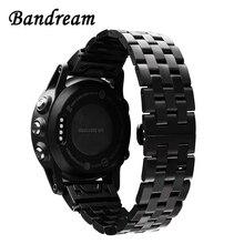 Rvs Horlogeband Quick Gemakkelijk Fit Voor Garmin Fenix 6X /6X Pro /6X Sapphire / 5X /5X plus/3/ 3 Hr Band Polsband