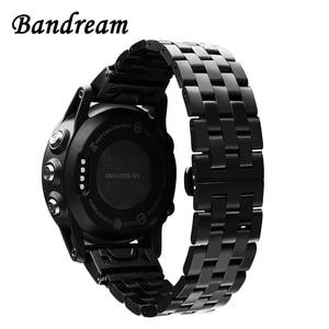 Image 1 - Watchband ze stali nierdzewnej szybkie i łatwe pasuje do Garmin Fenix 6X /6X Pro /6X Sapphire / 5X /5X Plus / 3/ 3 HR pasek do zegarka pasek