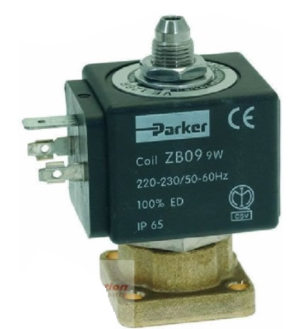Solenoid Valve Parker, Espresso Coffee Machine - , Rancilio, 230v, - 3way