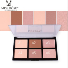 MISS ROSE 6-color high-gloss powder repairing powder concealer acne foundation cream waterproof whitening oil control makeup miss rose 12 color high gloss white concealer cheeks strengthen profile shaping powder cake beauty makeup