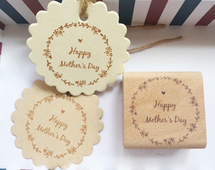 happy mother'day rubber wooden stamps for scrapbooking carimbo postcard or bookmark scrapbooking stamp 5*5cm stempel handmade vintage towel 7 4cm tinta sellos craft wooden rubber stamps for scrapbooking carimbo timbri stempel wood silicone stamp