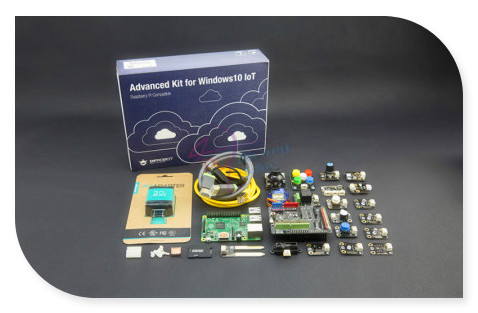 DFRobot Raspberry Pi Advanced Kit with Raspberry Pi 2 borad + Expansion Shield for Arduino more Compatible with Windows 10 IoT