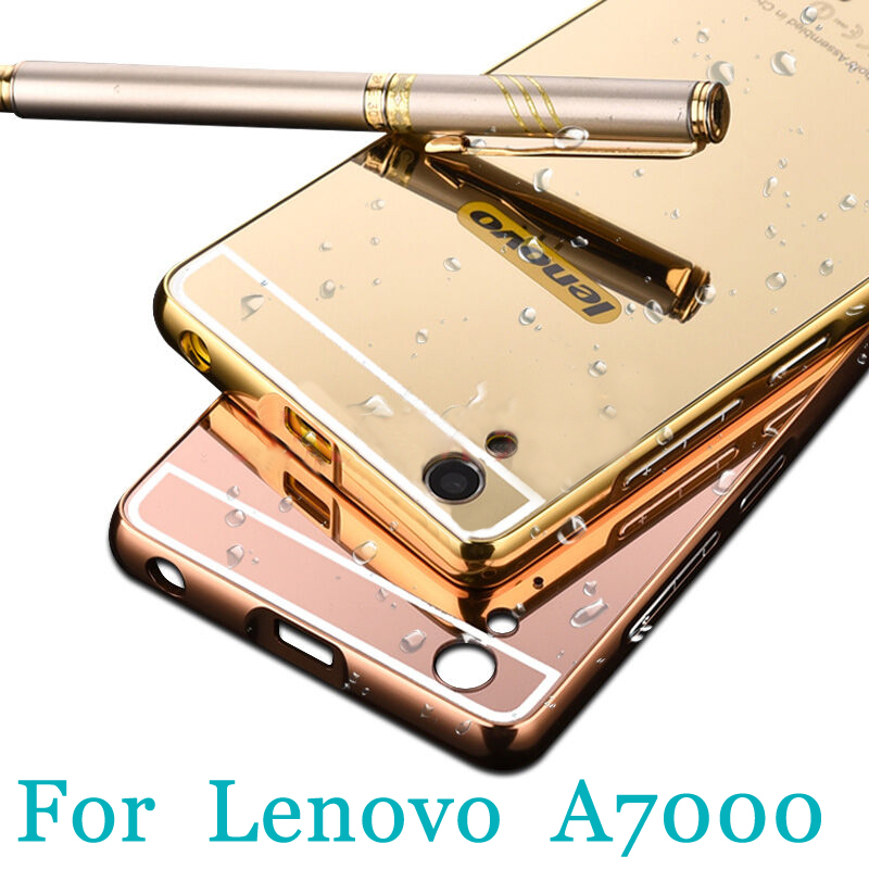 competitive price cdf75 58e36 US $3.74 |Cover case for lenovo A7000 Mirror Aluminum back cover Luxury  Slim Acrylic Metal Frame Phone case Plating Surface on Aliexpress.com | ...