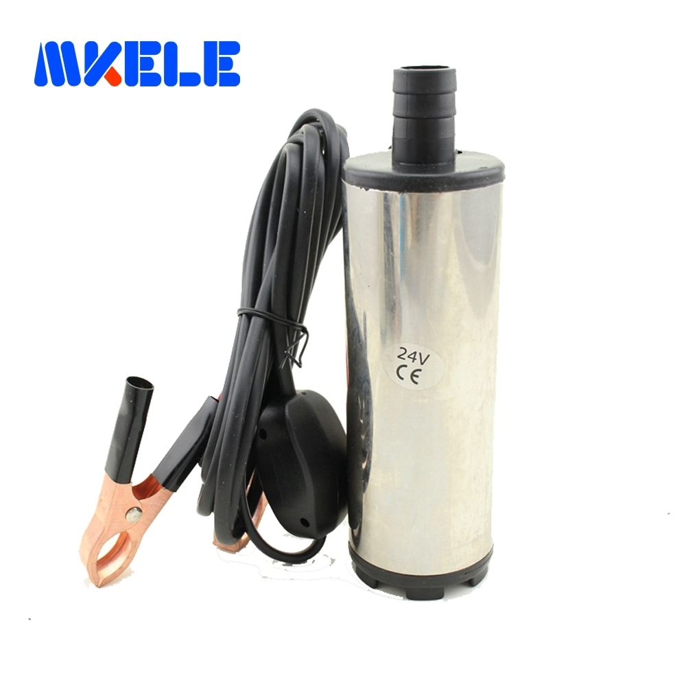 Free shipping DC 12 24V Submersible Diesel Fuel Water Oil Pump Car Camping Portable 30L Per