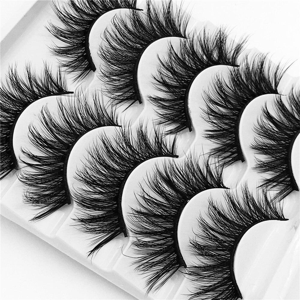 pares mink naturais cílios maquiagem pestana Extensão