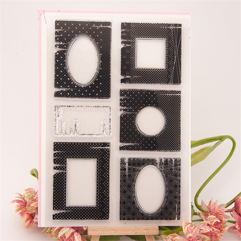 New arrival frame and border design scrapbooking clear stamps christmas gift for DIY paper card kids photo album craft RZ-206 alll kinds of frame design scrapbooking clear stamps christmas gift for diy paper card kids photo album rm 100
