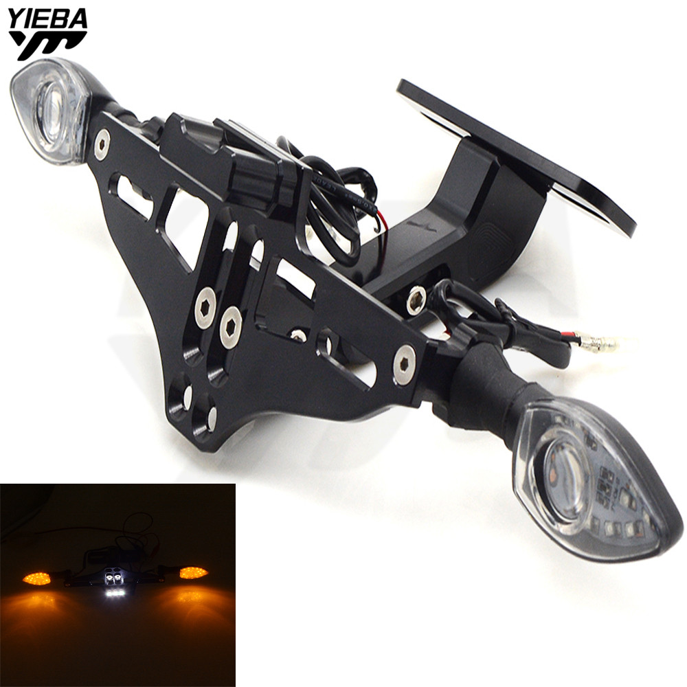Motorcycle Bracket Licence Plate Holder With Turn Light FOR yamaha YZF R125 YZF R15 YZF R25 YZF R3 MT-02 25 YZF-R25V TMAX530