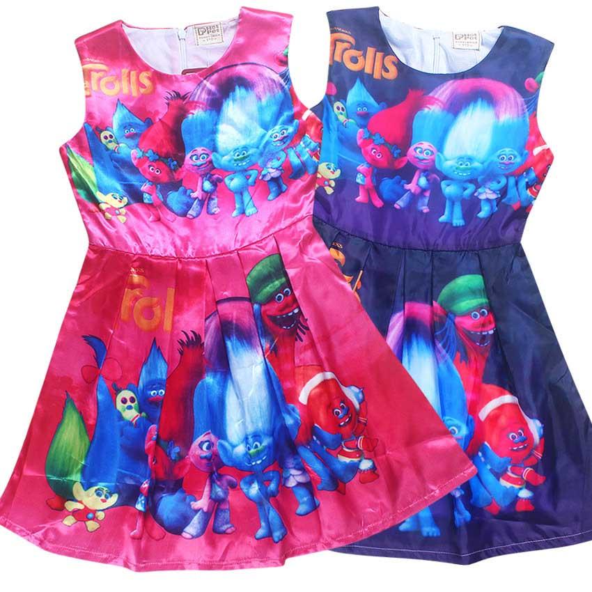 kinderen trollen jurk disfraz trollen feestkleding troll kleding voor meisjes 10 jaar poppy jurk kinderen carnaval kostuums tiener
