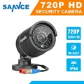 SANNCE 1PCS 720P TVI CCTV Camera Indoor Outdoor IP66 IR Night Vision 1.0MP Bullet type Surveillance Security Camera