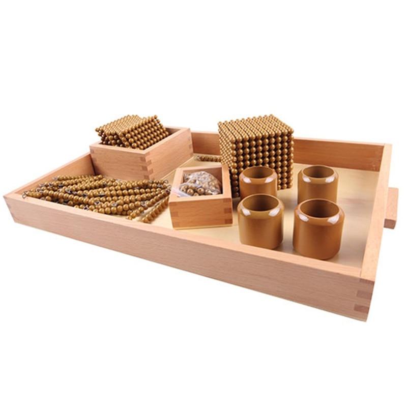 Montessori enfants jouet bébé bois perles d'or jeux d'apprentissage éducatif préscolaire formation Brinquedos Juguets - 4