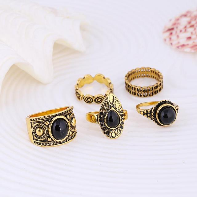 Turkish Style Ring Stone Silver and Gold variations 5 units