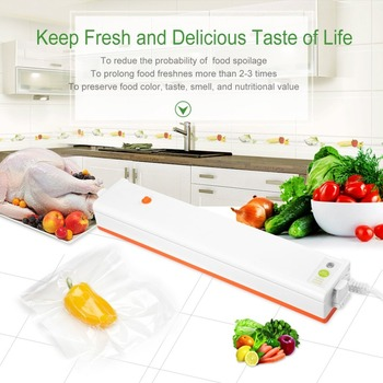 Household Food Vacuum Sealer Packaging Machine Film Sealer Portable Vacuum Packer 220V/110V Including Bags For Kitchen Vacuum Food Sealers